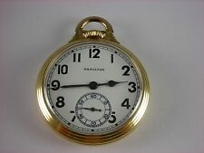Antique Hamilton 16s 992B, 21 jewels Rail Road pocket watch. Wadsworth case 1943