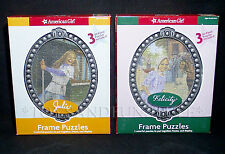 New FELICITY & JULIE American Girl - 6 FRAME JIGSAW PUZZLES - Full Color 50 Pc