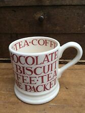 Emma Bridgewater Red Toast  Half Pint Mug - new 1st Quality