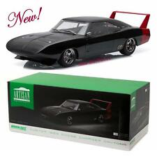 GREENLIGHT 19020 1969 Dodge Charger Daytona Custom Black with Red Rear Wing 1:18