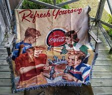 """Coca-Cola  """"Refresh Yourself"""" Woven Blanket - PERFECT FOR WINTER"""