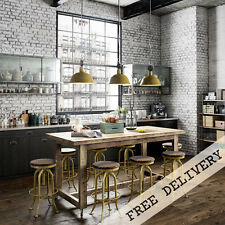 Industrial Recycled Extra Large Mobile Kitchen Island High Bench Table Natural