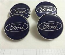 SET OF 4 Pcs Ford Blue Wheel Center Hub Caps for Fiesta Figo Ecosport