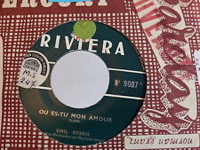 EMIL STERN Ou es tu mon amour / close your eyes RIVIERA 9007 JUKE BOX
