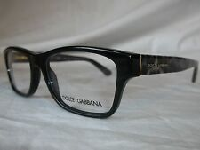 DOLCE & GABBANA D&G EYE GLASSES FRAME DG3208 2525 BLACK LEOPARD 52MM NEW AUTHENT