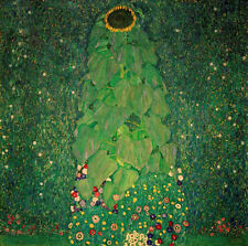 "Gustav Klimt ""sunflower"" canvas print giclee 8,3X8,3 reproduction of painting"