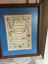 Framed Scottish Bump in the Night Poem Calligraphy Gothic Monsters