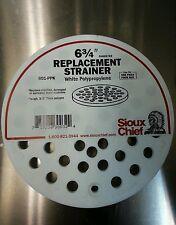 """Sioux Chief Floor Drain Cover 6-3/4 """" Dia x 3/8 """" D White"""