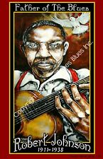 Poster of Robert Johnson Father of the Blues by Cadillac Johnson