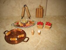 OOAK Vintage 1:12 Dollhouse Miniature Kitchen Set-- Food & Utensils