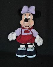 Peluche doudou minnie DiSNEYLAND Paris Disney mauve violet jupe noeud 25 cm TTBE