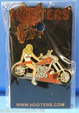 HOOTERS SEXY BLONDE GIRL MOTORCYCLE BIKE ROCK HILL SC SOUTH CAROLINA LAPEL PIN