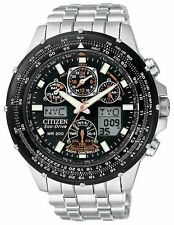 Citizen Eco-Drive Men's Skyhawk AT Flight Chronograph Atomic Watch JY0000-53E