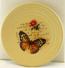 Butterfly Flower Ceramic Candle Plate Yankee Candle NEW nature tray aged script