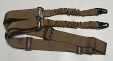 "Rifle Sling - Tactical Quick Release Bungee 2 Point Coyote Tan Adjustable 60""+"