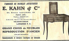 LONDON HOLBORN-CIRCUS PARIS PUBLICITE ETS KAHN FABRIQUE DE MEUBLES 1930