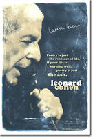 LEONARD COHEN ART PRINT 2 PHOTO POSTER GIFT QUOTE