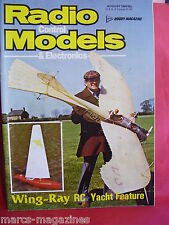 RCM&E AUGUST 1980 PHIL MOORE FAI PYLON RACING WING RAY YACHT VIC SMEED