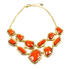 Amrita Singh Wainscott Gold 2-strand Necklace various shaped Stones Coral