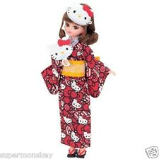 TAKARA TOMY JAPAN LICCA DOLL HELLO KITTY KIMONO YUKATA WEAR CLOTHES  LA81479