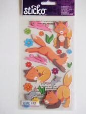 Sticko Dimensional 3D Stickers - Foxy - fox bunny mouse