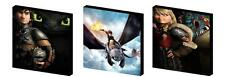 HOW TO TRAIN YOUR DRAGON - CANVAS ART BLOCKS/ WALL ART PLAQUES/PICTURES