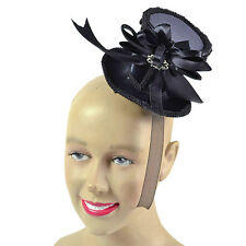 1920s 1930s #ELEGANT LADY MINI TALL TOP HAT FANCY PARTY ACCESSORY