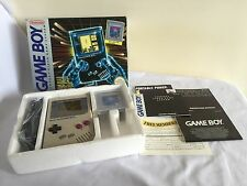 ORIGINAL NINTENDO GAMEBOY CONSOLE + TETRIS + LINK CABLE + ORIGINAL BOX BUNDLE