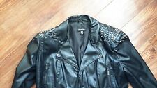 BEBE STUDS LEATHER MOTO  BOLERO JACKET  SZ. L