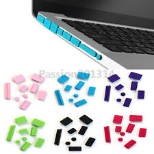 "Soft Silicone Anti Dust Port Plug Cover For MacBook MAC Pro 13"" 15"" Black"