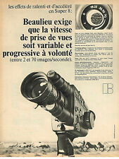 PUBLICITE ADVERTISING 054  1971  BEAULIEU     caméra SUPER 8