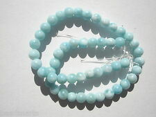 Natural AA Larimar Round Gemstone Beads - 4mm - 50