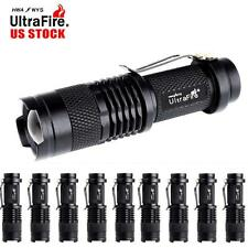 10x 6000 LM CREE Q5 LED Flashlight Tactical 3 Modes 14500 Battery Mini Torch TR