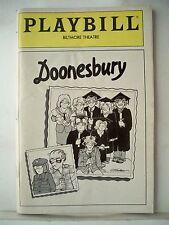 DOONESBURY Playbill GARRY TRUDEAU / KATE BURTON / GARY BEACH Musical Flop 1983