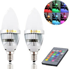 Bonlux 2-Pack 3W RGB E12 Candelabra LED Bulb Remote Control Color Changing Light