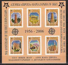 50 Jahre Europa CEPT, Kirgisien 2006 Mi 449/454 B und Block 44 B ** KW 34,00€