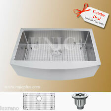 "Combo Deal !!! 33"" Stainless Steel Farm Apron Kitchen Sink KAR3321S Single Bowl"