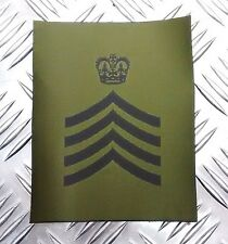 Genuine British Army Green OD Subdued  DRUM MAJOR Rank Patches X2 - NEW