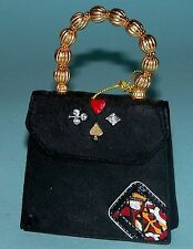 "Just the Right Shoe, Raine, ""Queen of Hearts"" miniature purse #25326 B. Feldman"