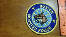 BOSTON POLICE MOUNTED POLICE HORSE UNIT   OBSOLETE SHOULDER   PATCH BX y #155