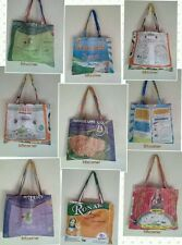 RECYCLED Rice Sack Messenger Bag Shopping Shoulder Tote Handmade Nepal Fairtrade