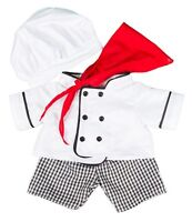 "Chef costume outfit cooking teddy bear clothes to fit 15"" bears build a plush"