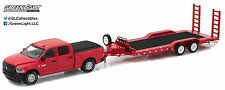 1:64 GreenLight *HITCH & TOW 9* Red 2016 Ram 2500 HEAVY DUTY Flatbed Trailer NIP