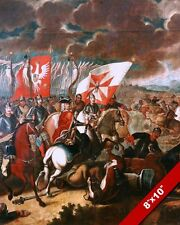 BATTLE OF KALISZ POLISH PAINTING GREAT NORTHERN WAR ART REAL CANVAS PRINT