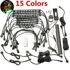 10 Strip Flexible Multi 15 Color SMD RGB LED Light+Remote Kit for Motorcycle Car