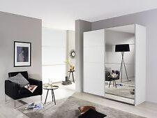 Camera armadio 2 ante scorrevoli bianco/specchio 136 cm
