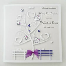 Personalised Wedding Day Card Gay Marriage Same Sex Civil Ceremony Any Colour