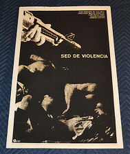 1980 Cuban Original Silkscreen Movie Poster.Thirst f Violence.Kidnapping hostage