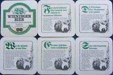 Bierdeckel Serie Sammlung - Wieninger Teisendorf - Texte  -  Bayern - 1994