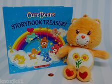 2004 FRIEND Sunflower CARE BEARS PLUSH & Childrens STORY BOOK TREASURY 8 Stories